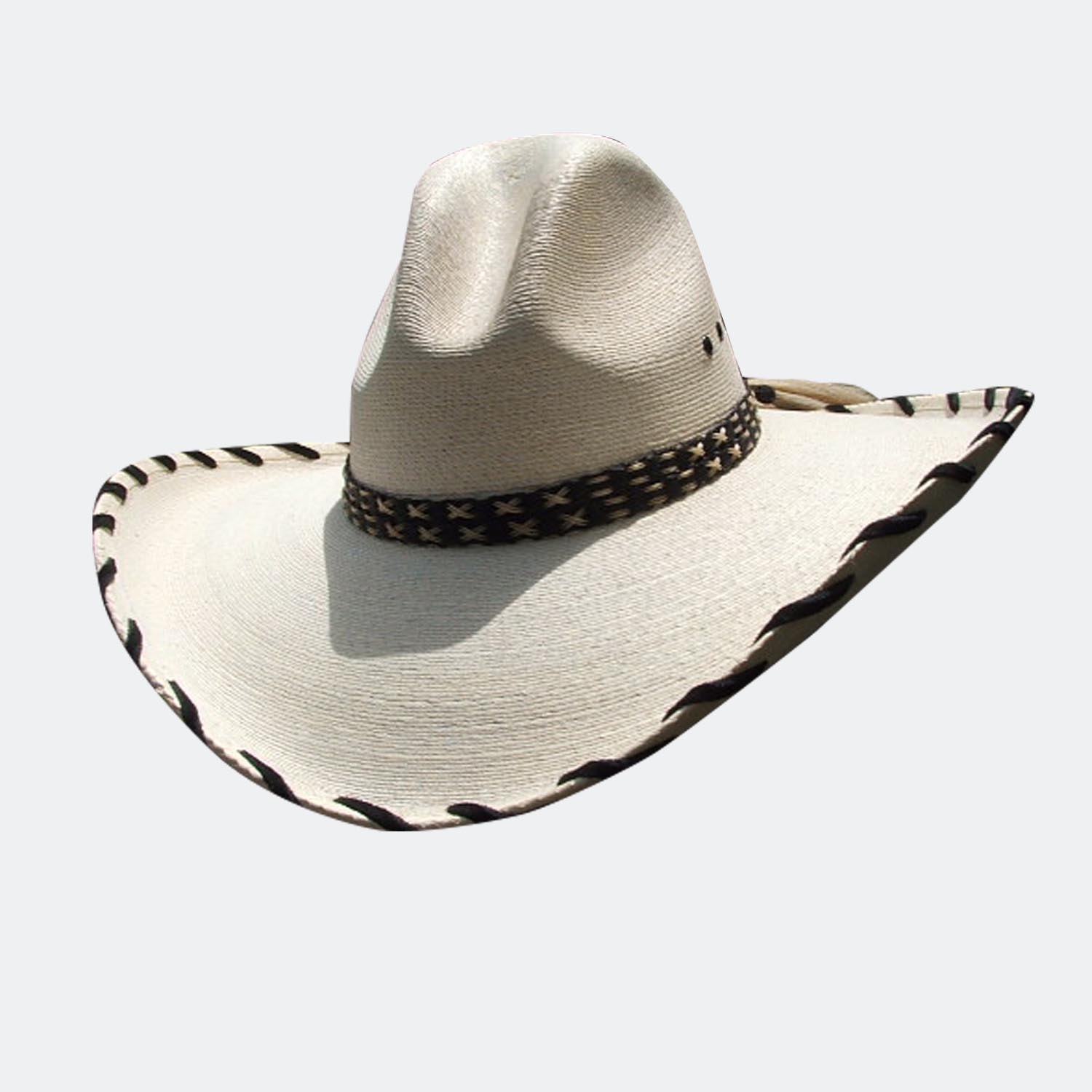 Rancher big brim palm straw cowboy hat  d5ef8752c4e