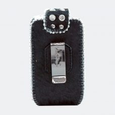 Phone Cover Black Hide Back
