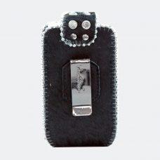 Phone Cover Black Hide Back