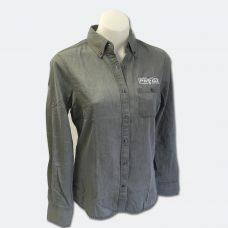 Ladies Grey Denim Shirt