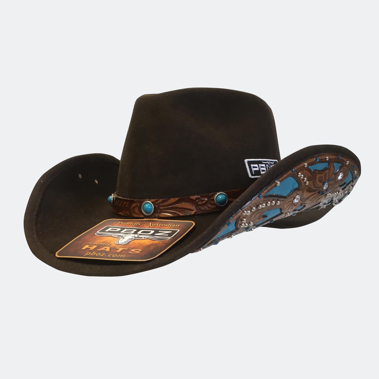 Country Girl Wool Felt Cowgirl   Cowboy Hat  bd5089b2d03