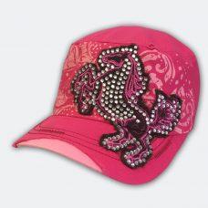 hot-pink-rearing-horse-cadet-cap