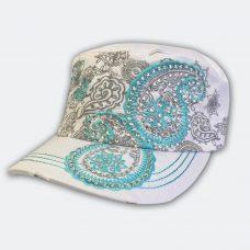 white-aqua-cadet-cap