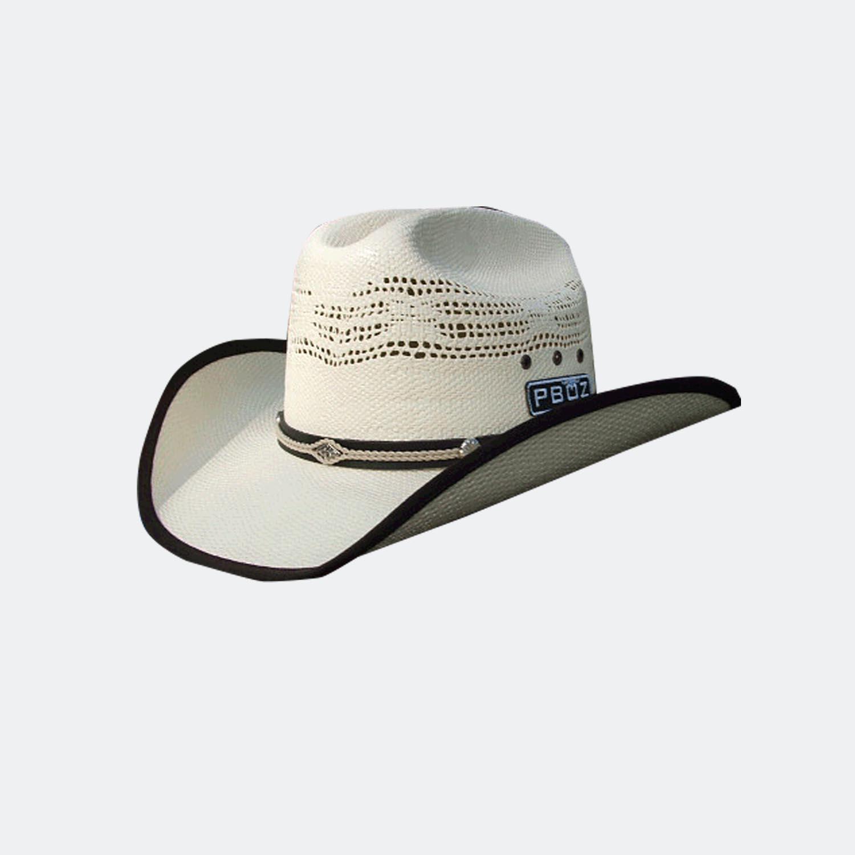 4e767cc3b7c Kids white bound edge straw cowboy hat